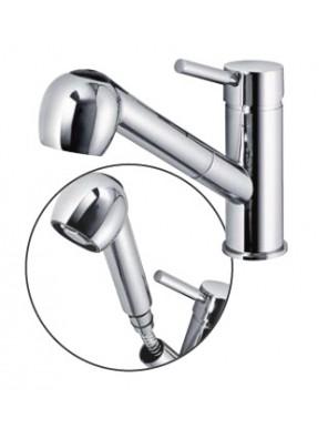 AIMER Brass Chrome Flexible Hose Sink Mixer AMMX-88202