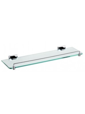 AIMER Brass Chrome Glass Shelf Size:550mm AMBA-85812
