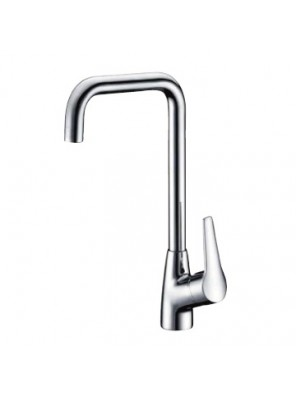 AIMER Brass Chrome Kitchen Pillar Sink Mixer AMMX-24201