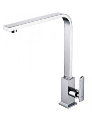 AIMER Brass Chrome Kitchen Pillar Sink Tap AMFC-201