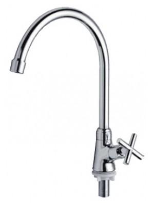 AIMER Brass Chrome Kitchen Pillar Sink Tap AMFC-2358C
