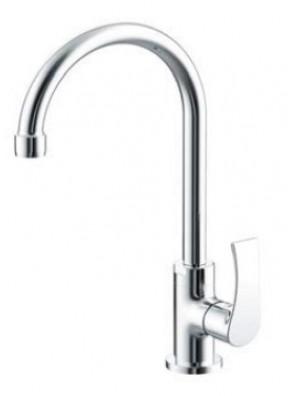 AIMER Brass Chrome Kitchen Pillar Sink Tap AMFC-2958