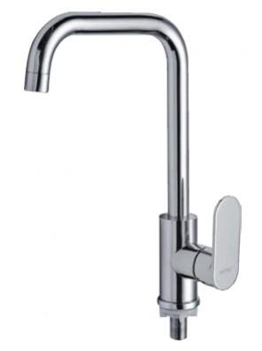 AIMER Brass Chrome Kitchen Pillar Sink Tap AMFC-807