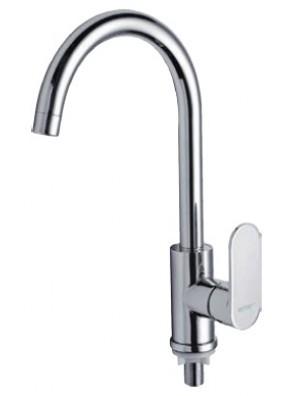 AIMER Brass Chrome Kitchen Pillar Sink Tap AMFC-808