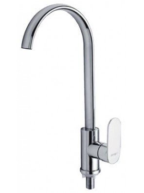 AIMER Brass Chrome Kitchen Pillar Sink Tap AMFC-809