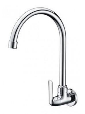 AIMER Brass Chrome Kitchen Wall Sink Tap AMFC-1757
