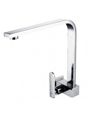 AIMER Brass Chrome Kitchen Wall Sink Tap AMFC-203