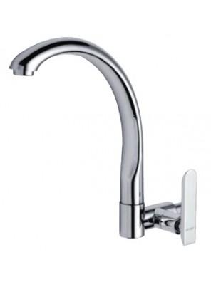 AIMER Brass Chrome Kitchen Wall Sink Tap AMFC-206