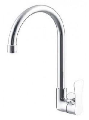 AIMER Brass Chrome Kitchen Wall Sink Tap AMFC-2857