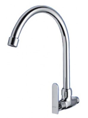 AIMER Brass Chrome Kitchen Wall Sink Tap AMFC-3657C