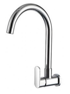 AIMER Brass Chrome Kitchen Wall Sink Tap\ AMFC-5008