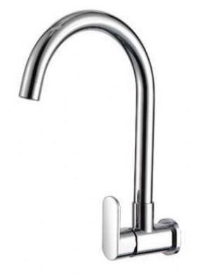 AIMER Brass Chrome Kitchen Wall Sink Tap\ AMFC-5008