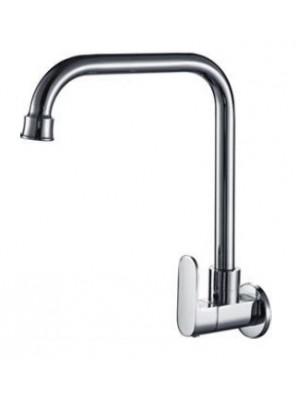 AIMER Brass Chrome Kitchen Wall Sink Tap AMFC-5009