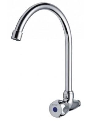AIMER Brass Chrome Kitchen Wall Sink Tap AMFC-6037C