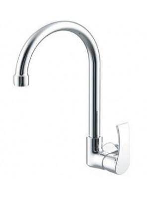 AIMER Brass Chrome Kitchen Wall Sink Tap AMFC2957