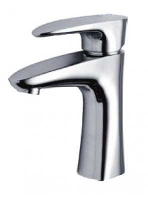 AIMER Brass Chrome Pillar Basin Mixer AMMX-47243