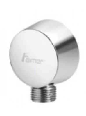 AIMER Brass Chrome Shower Connector (Round) AMACC-012/R
