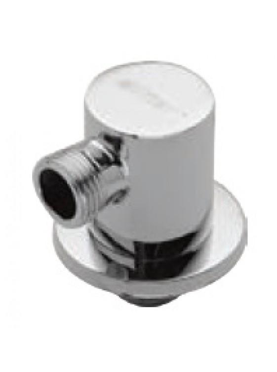 AIMER Brass Chrome Shower Connector (Round) AMACC-05/R