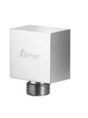 AIMER Brass Chrome Shower Connector (Square) AMACC-012/SQ