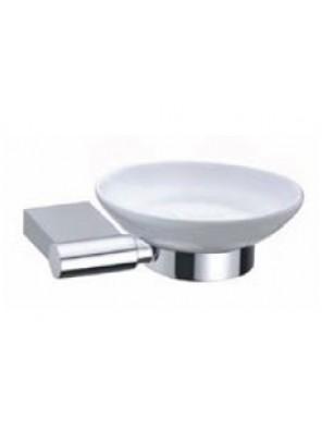 AIMER Brass Chrome Soap Dish Holder with Ceramic AMBA-31805