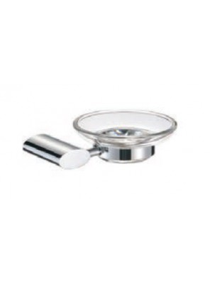 AIMER Brass Chrome Soap Dish Holder with Glass AMBA-7505
