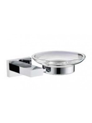 AIMER Brass Chrome Soap Dish Holder with Glass AMBA-83805