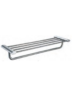 AIMER Brass Chrome Towel Rack Size:600mm AMBA-7502