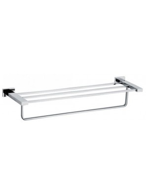 AIMER Brass Chrome Towel Rack Size:600mm AMBA-83802