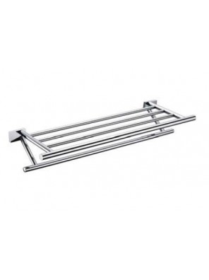 AIMER Brass Chrome Towel Rack Size:600mm AMBA-85802