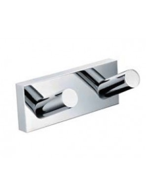 AIMER Brass Chrome Towel Twin Hook AMBA-85810