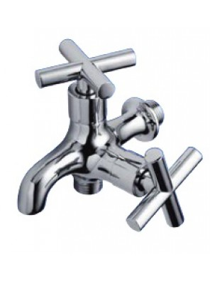 AIMER Brass Chrome Wall 2 way Tap AMFC-2353
