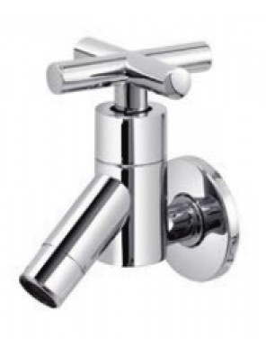 AIMER Brass Chrome Wall Bib Tap AMFC-2332