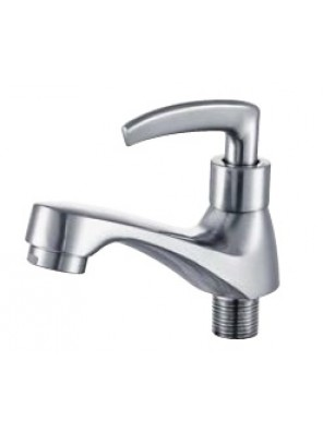AIMER Brass Satin Nickel Basin Pillar Tap AMFC-1955