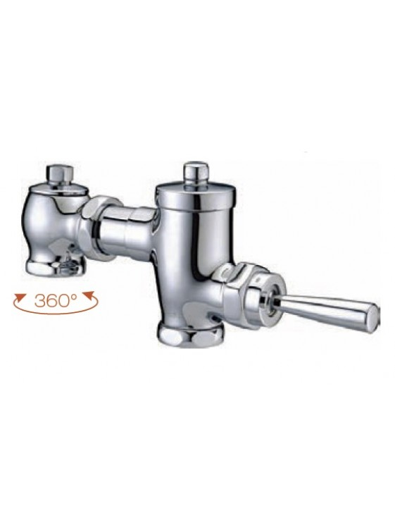 AIMER Exposed Wc Flush Valve; Brass Chromed AMFV-100
