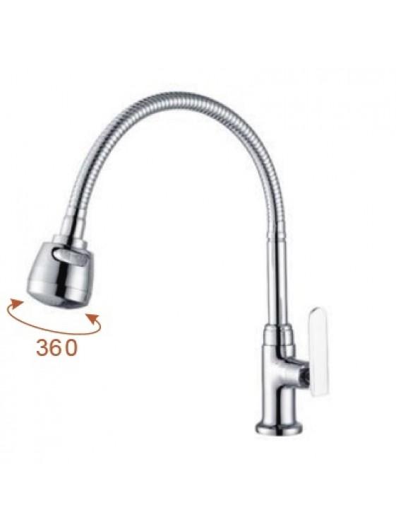 AIMER  Flexible Hose Kitchen Pillar Sink Tap AMFC-3658H
