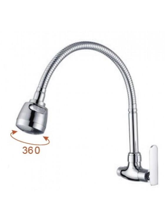 AIMER  Flexible Hose Kitchen Wall Sink Tap AMFC-3657H