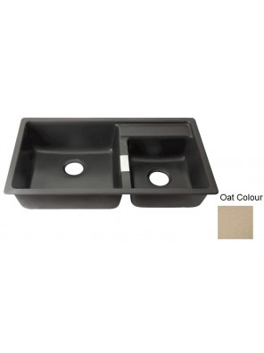 AIMER Granite Double Bowl Kitchen Sink (Oat) AMG-8549 O