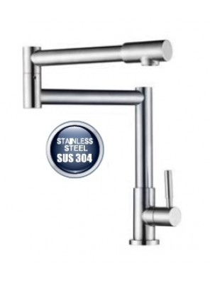 AIMER S/S SUS 304 Kitchen Pillar Sink Cold Tap AMPFC-80524
