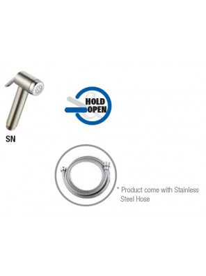 AIMER  Satin Nickel Spray Bidet Set c/w S/S Hose AMSB-50/SN