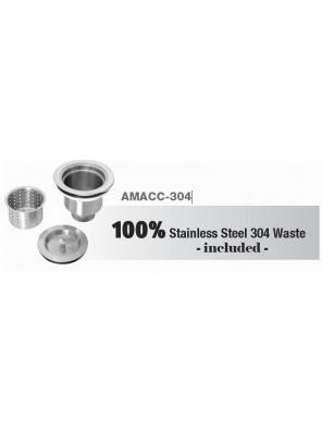 AIMER100Mm Dia S/S Sus 304 Waste  AMACC-304