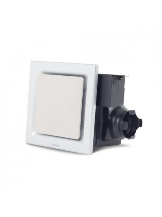 "AIREGARD 4"" Silent Ventilator AS-6090-D2 (Square) Platinum"