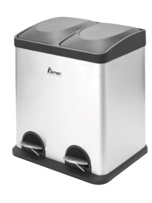 AIMER Stainless Satin Nickel Dustbin Square AMDB-6430