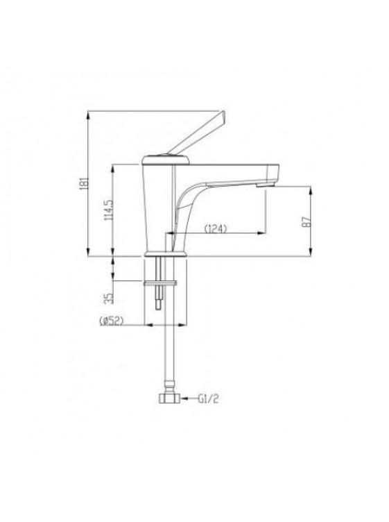 JOHNSON SUISSE Corsico Basin Mixer WBFA300697BC