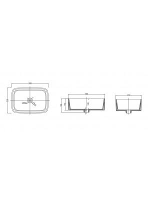 JOHNSON SUISSE Celico Rectangular Countertop Basin WBVC950095WW