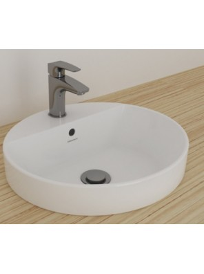 JOHNSON SUISSE Gemelli Round Semi Insert Basin 1- TH With Pre-Punched Hole WBAAGM151WW