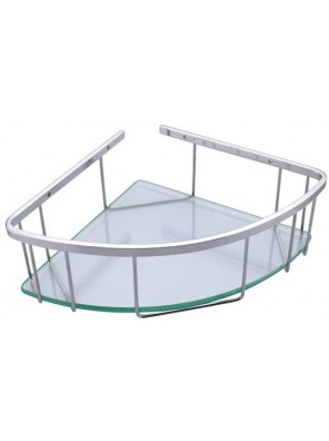 "ROCCONI 9"" S/S Large Corner Glass Basket RCN 7001L"