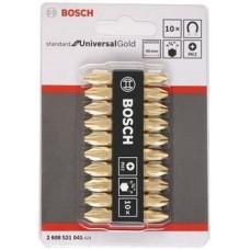 BOSCH 10pcs D/End Bit Set Philip#2x45mm Gold(2608521041)