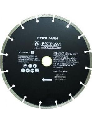 "COOLMAN 9"" Dry Segmented Blade E Type black D230E"