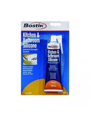 BOSTIK 75gm Silicone Kitchen & Bathroom Code:03039