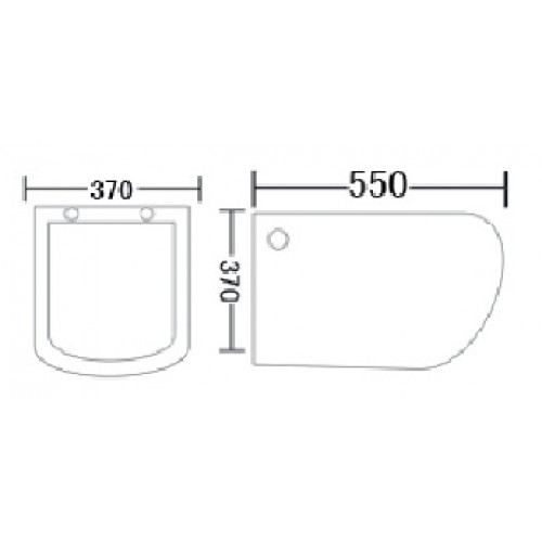 Bareno Wall Hung Wc Size 550x370x370 White W31801